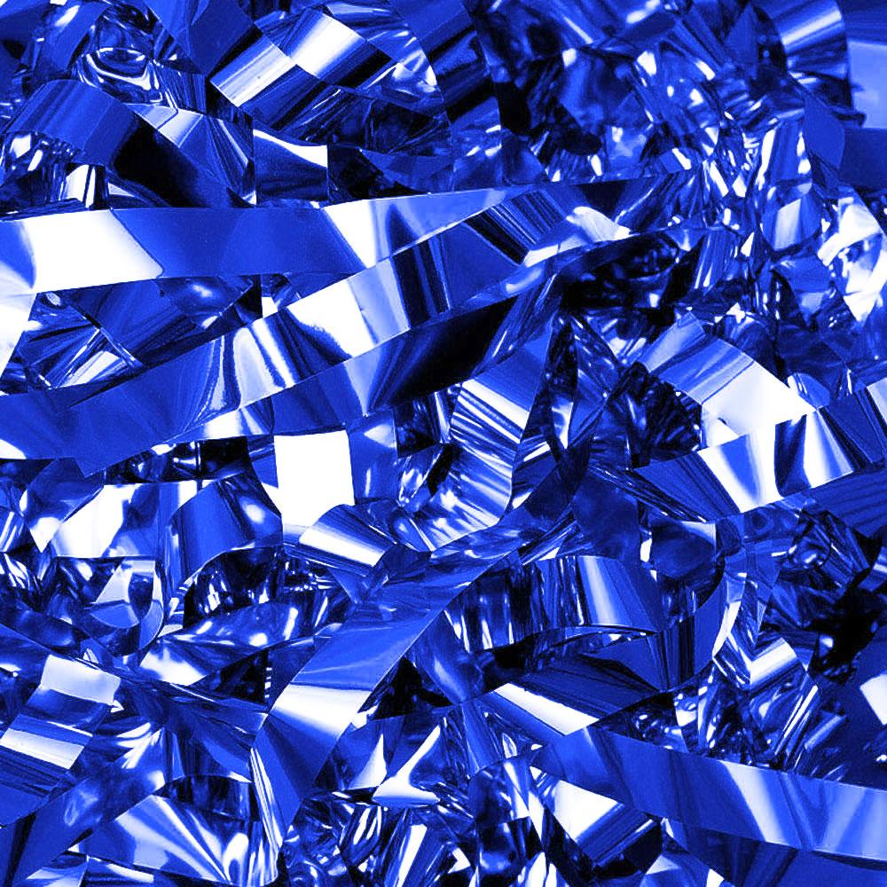 Бумага для шоу фольгированная цветная синяя