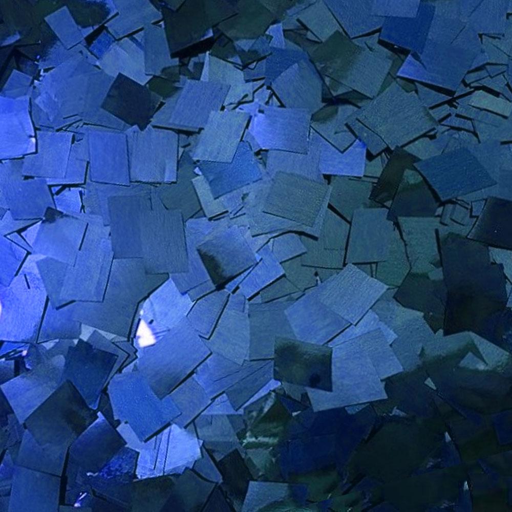 Бумага для шоу Конфетти фольгированная цветная синяя