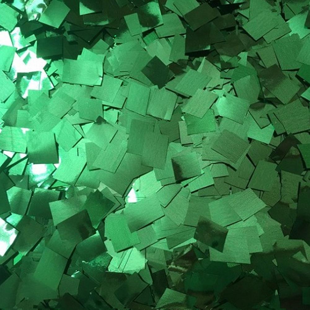 Бумага для шоу Конфетти фольгированная цветная изумруд