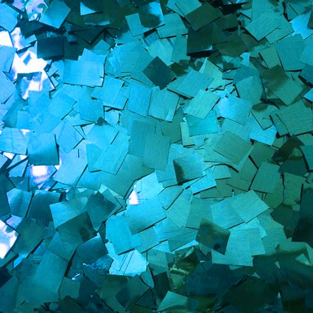 Бумага для шоу Конфетти фольгированная цветная голубая