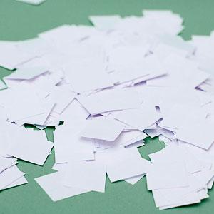 Бумага для бумажного шоу Конфетти 'Белый  Дождь'