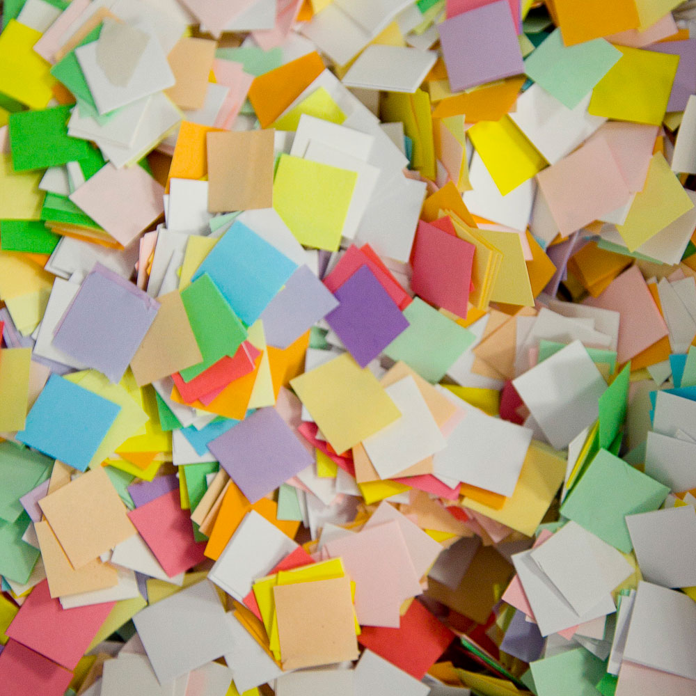 Бумага для шоу разноцветная  'Цветное конфетти'