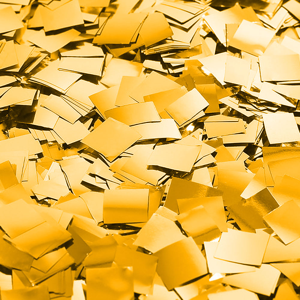 Бумага для шоу фольгированая золотая. Конфетти
